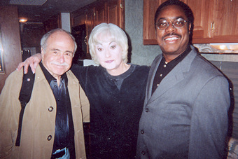 Actress Bea Arthur with LLoyd Wilson at Gibson's Steakhouse Chicago, IL