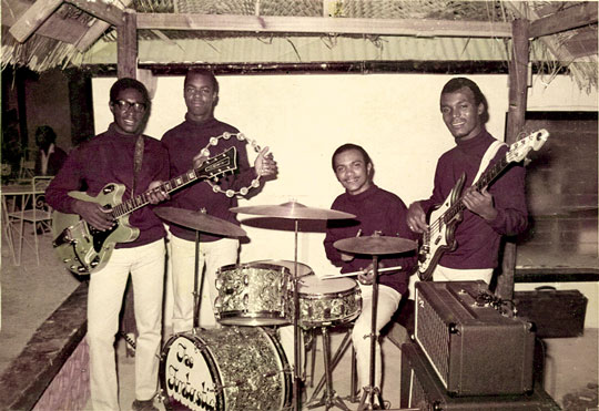 Lloyd Wilson as a member of the Barbados group The Fantastics