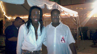 The great funk bass master from Earth Wind And Fire Verdine White